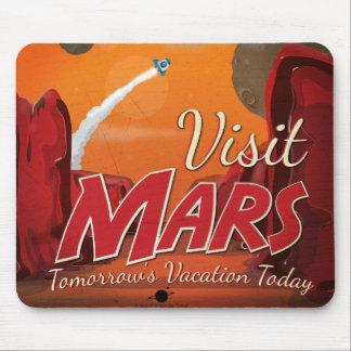 Visit Mars Vintage Poster Mouse Pads
