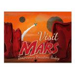 Visit Mars Vintage Poster Post Cards