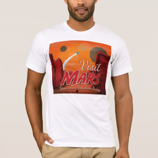 Visit Mars Vintage Poster T-Shirt