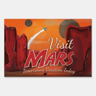 Visit Mars Vintage Poster Lawn Signs