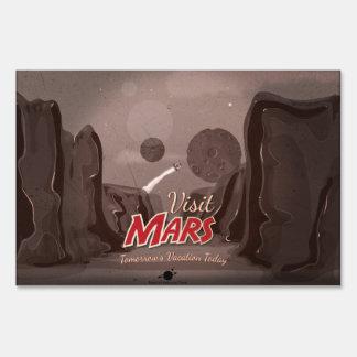 Visit Mars Vintage Poster Sign