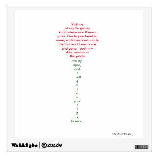 Visit Me - Love Poem - Wall Display Wall Sticker
