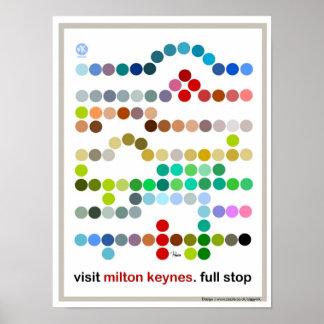 Visit Milton Keynes full stop poster print