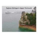 Visit Miners Castle in Michigan's Upper Peninsula Postcard
