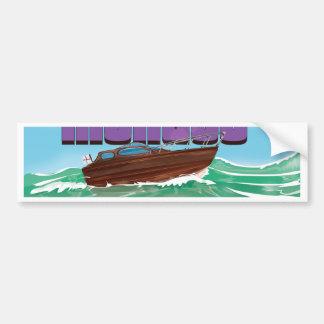 Visit Monaco Travel Poster Bumper Sticker