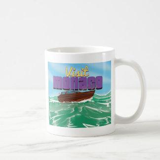 Visit Monaco Travel Poster Coffee Mug