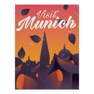 Visit Munich Germany travel poster