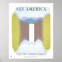 Visit National Parks 1940 WPA Poster