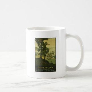 Visit New England Vintage Poster Coffee Mug