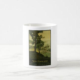 Visit New England Vintage Poster Coffee Mugs