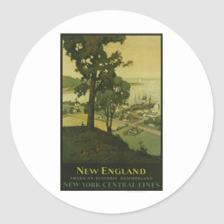 Visit New England Vintage Poster Stickers