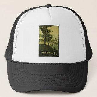 Visit New England Vintage Poster Trucker Hat
