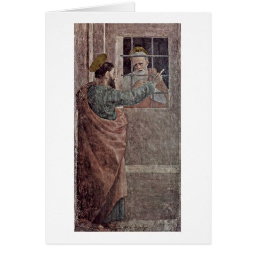 Visit Of St. Peter In Prison By Filippino Lippi Greeting Card