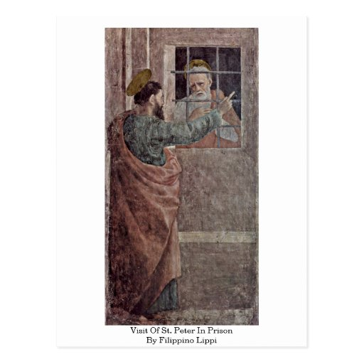 Visit Of St. Peter In Prison By Filippino Lippi Postcard