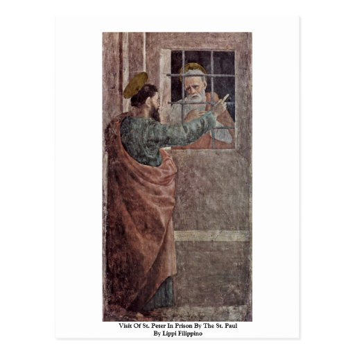 Visit Of St. Peter In Prison By The St. Paul Postcards