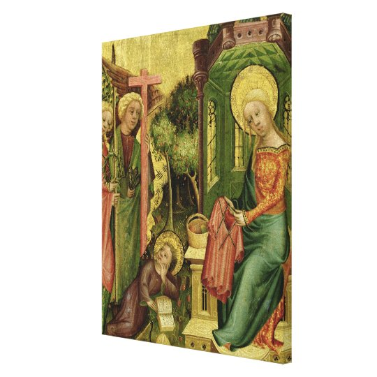 Visit of the Angel, from the right wing Canvas Print