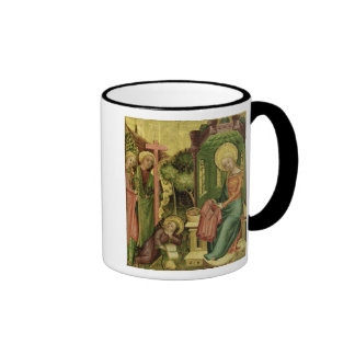 Visit of the Angel, from the right wing Ringer Coffee Mug