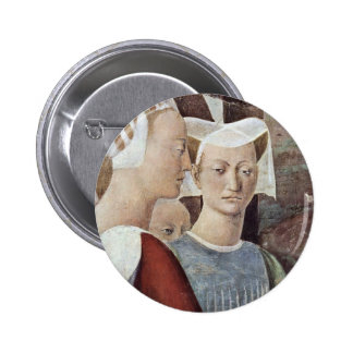Visit Of The Queen Of Sheba With Solomon. Details Pinback Buttons
