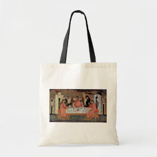 Visit Of The Three Angels With Abraham And Its Hos Canvas Bag