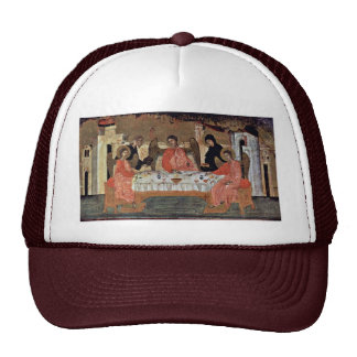 Visit Of The Three Angels With Abraham And Its Hos Trucker Hat