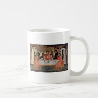 Visit Of The Three Angels With Abraham And Its Hos Classic White Coffee Mug