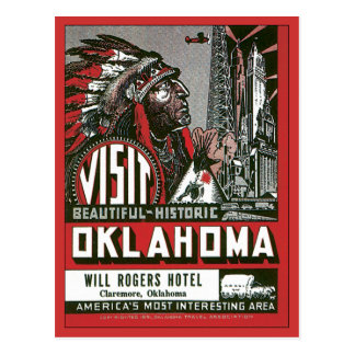 Visit Oklahoma OK USA Vintage Postcard