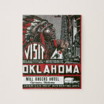Visit Oklahoma With Indian Chief Jigsaw Puzzles