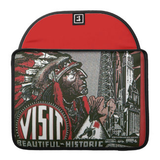 Visit Oklahoma With Indian Chief Sleeve For MacBook Pro