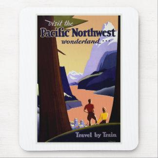 Visit Pacific Northwest Vintage Mouse Pad