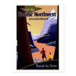 Visit Pacific Northwest Vintage Postcard