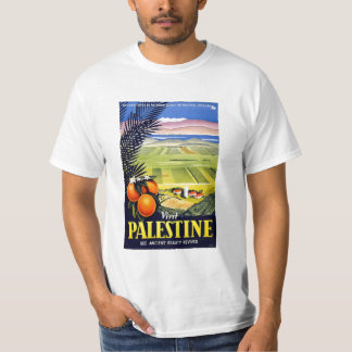 Visit Palestine 2 Holy Land Vintage Travel Art T-Shirt