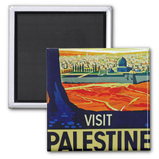 Visit Palestine 2 Inch Square Magnet