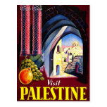 Visit Palestine Holy Land Vintage Travel Art Postcard