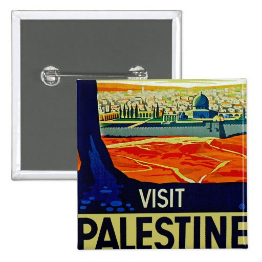 Visit Palestine Pinback Button
