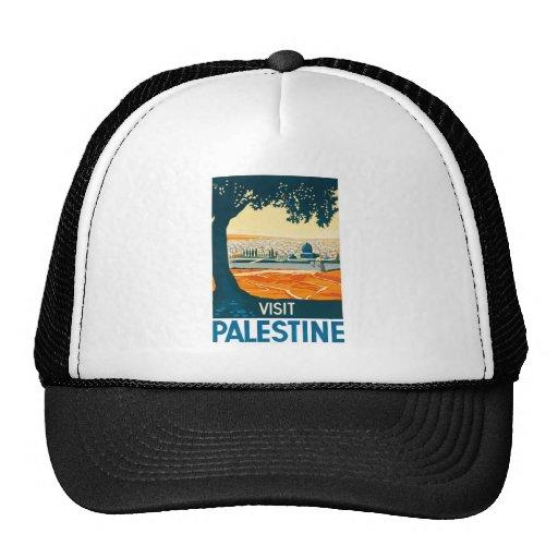 Visit Palestine Poster Trucker Hat