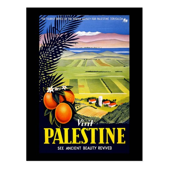 Visit Palestine See Ancient Beauty Revived Postcard
