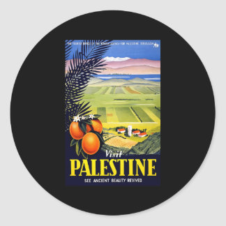 Visit Palestine See Ancient Beauty Revived Classic Round Sticker