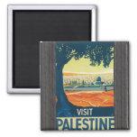 Visit Palestine, Vintage Magnet
