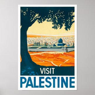 Visit Palestine Vintage Poster Print