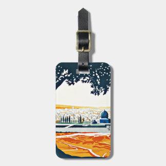 Visit Palestine Vintage Travel Bag Tag