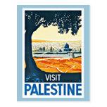 Visit Palestine Vintage Travel Postcard