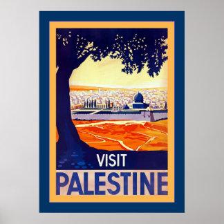 Visit Palestine ~ Vintage Travel Poster