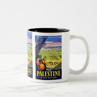 Visit Palestine Vintage Travel Poster Mug