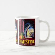 """Visit Palestine"" Vintage Travel Poster Mug"