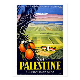 """Visit Palestine"" Vintage Travel Poster Postcard"