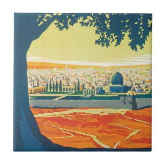 Visit Palestine Vintage Travel Poster Tile