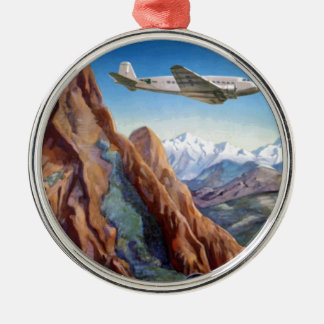 Visit Peru Vintage Travel Metal Ornament