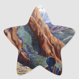 Visit Peru Vintage Travel Star Sticker