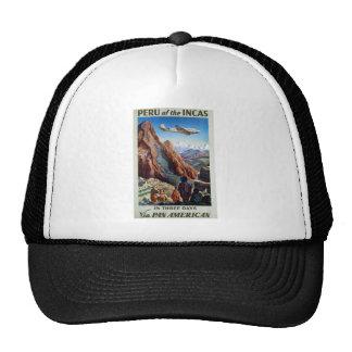 Visit Peru Vintage Travel Trucker Hat