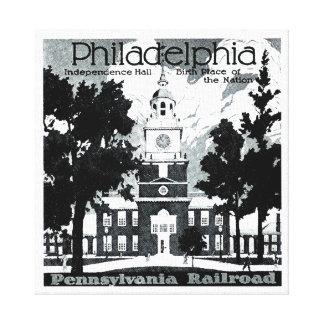 Visit Phila.on the Pennsylvania Railroad Canvas Print